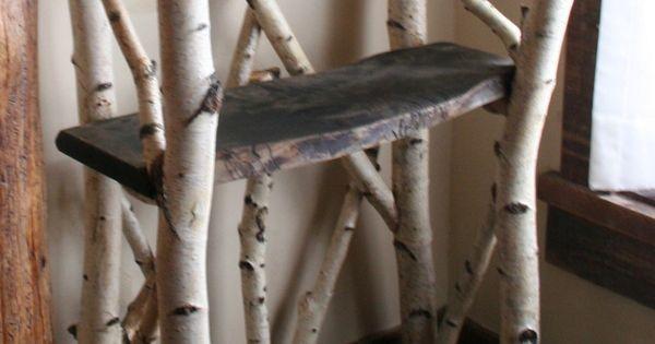 White Birch Shelves By Rusticfurnture On Etsy 1 200 00