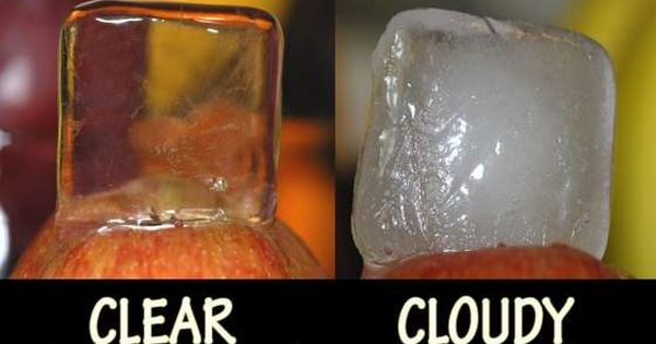 "Crystal Clear Ice Cubes ""Use boiling water instead of tap water to"