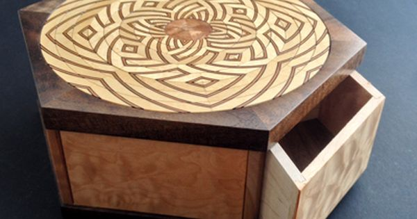 Lotus Box Japanese Puzzle Box Puzzle Box Wooden Puzzle Box