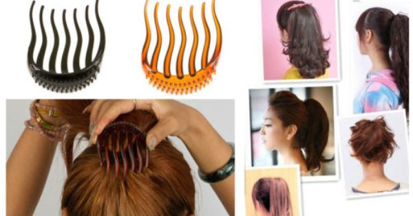 O Shopping Hair Styler: Bump It Up Volume Inserts Hair Clip For Ponytail Bouffant