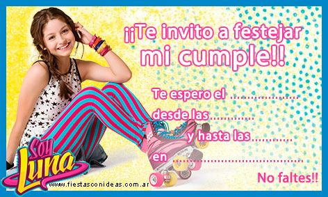 Soy Luna Tarjeta De Cumpleaños Calidad Para Imprimir En