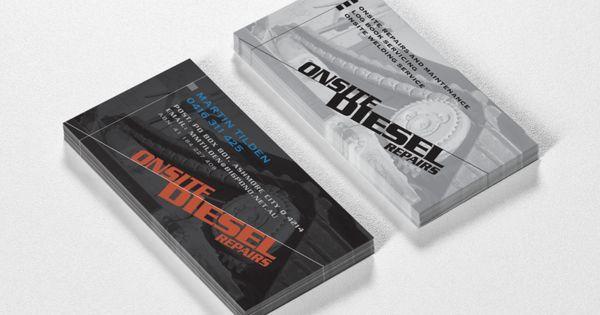 Onsite Diesel Repairs Mobile Mechanic Logo And Business Card Created By Ris Designs Www Risdesigns Com Au Mechanics Logo Mobile Mechanic Business Cards