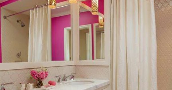 Pink Bathrooms Bathroom And Shower Curtains On Pinterest