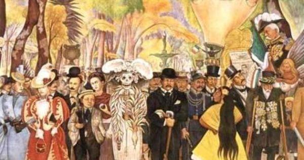 Diego rivera dia de muertos uvres hida pinterest for Types de peintures murales