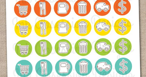 Home Essentials Planner Stickers Instant Download DIY ...