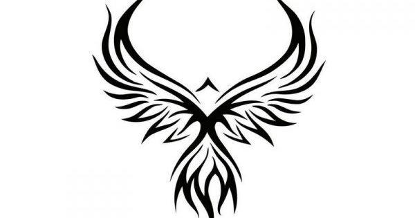 pochoir tattoo phoenix pochoirs pinterest pochoir tatouages et id es de tatouages. Black Bedroom Furniture Sets. Home Design Ideas