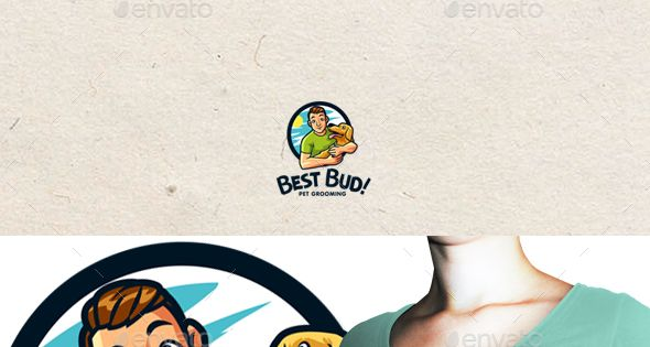 Best Bud – Pet Grooming – Animals Logo Templates