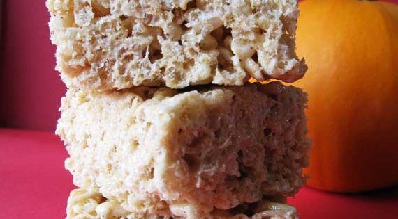 fall treats / browned butter pumpkin spice rice krispie treats.