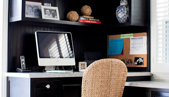 corner desk area