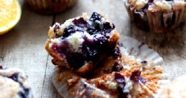Meyer Lemon & Blueberry Muffins with Cinnamon Crumble Topping. Just ...