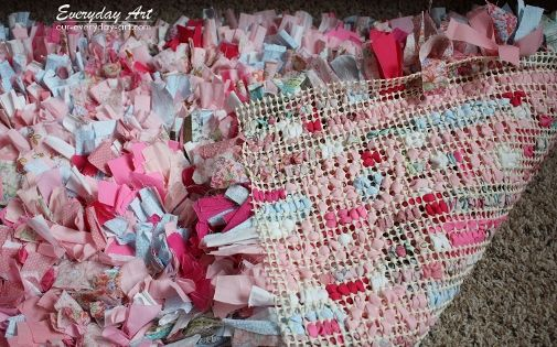 how to make a rag rug without sewing