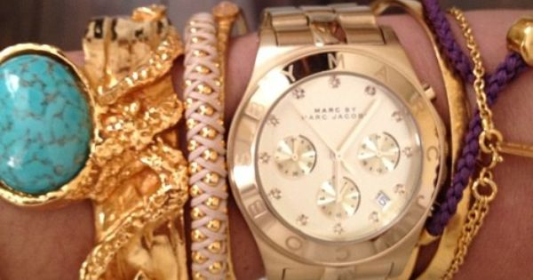 Marc by Marc Jacobs Blade Watch in gold