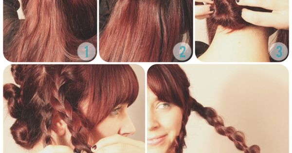 Hair Tutorial: Quick Braid Bun Updo -- the long hair version