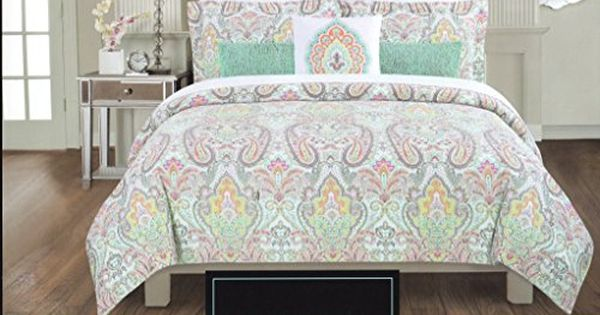 Cynthia Rowley Full Queen Duvet Cover Set Large Floral