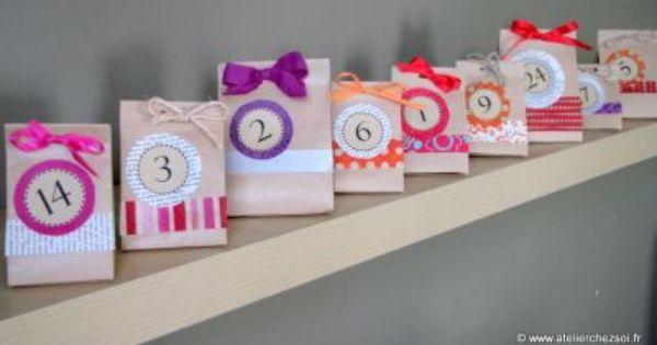 calendrier de l 39 avent colo en origami papier kraft et r cup diy hiver no l pinterest. Black Bedroom Furniture Sets. Home Design Ideas