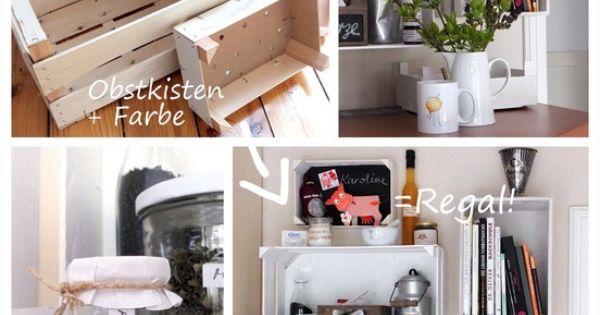 regal aus obstkisten frechspatzfreitag pinterest ikea hack and fruit box. Black Bedroom Furniture Sets. Home Design Ideas