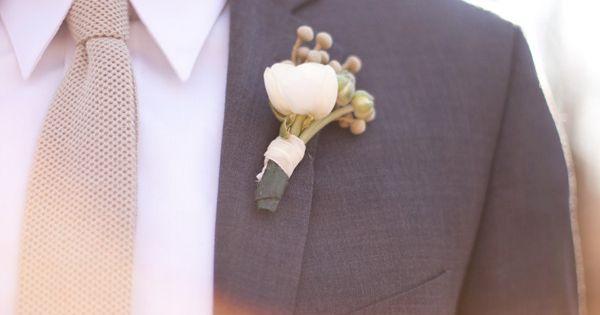 Grey tux w/tan tie