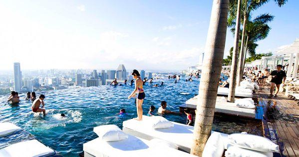 Marina bay sands hotel singapore Marina bay sands complex consists of three