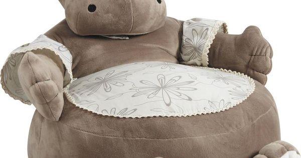 fauteuil pouf hippopotame en coton et peluche 50x50x55cm sur jardindeco milka 39 s family. Black Bedroom Furniture Sets. Home Design Ideas
