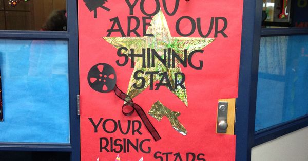 Teacher Appreciation Week Door Decoration Movie Star Theme