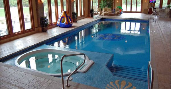 Luxury Indoor Swimming Pool With Hot Tub Home Decor Pinterest Indoor Swimming Pools Hot