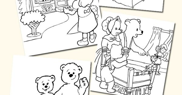 free goldilocks coloring pages - photo#20