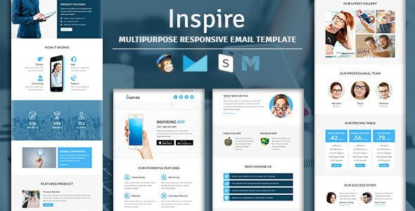 Inspire  Multipurpose Responsive Email Template With Stampready