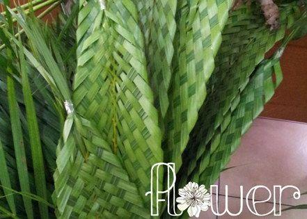 how to make palm leaf flowers