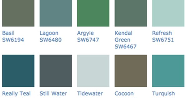 Sherwin WIlliams Popular Color Scheme For 2012 Like Turquish To Paint Mirror