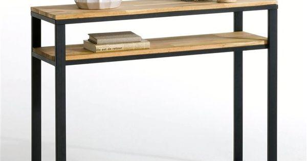 console ch ne massif about et acier hiba consoles salons and tables. Black Bedroom Furniture Sets. Home Design Ideas