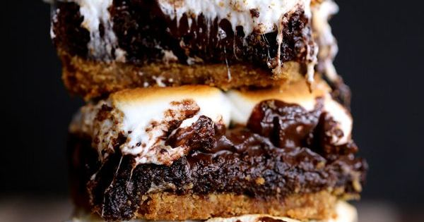 Peanut Butter Cup Stuffed S'mores Brownies | Recipe | Peanut Butter ...