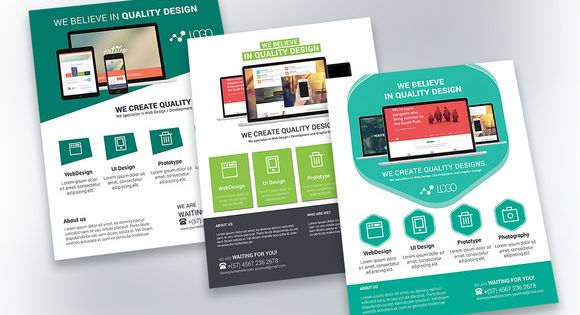 Web Design Flyer Template | Creative, Flyer template and Products