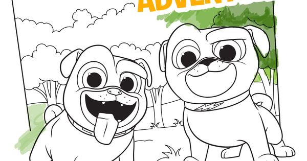 Puppy Dog Pals Printable Coloring Pages Take Your Kids On A Coloring Adventure With Bingo And Rolly With This Downloa Disney Colors Puppy Party Disney Junior