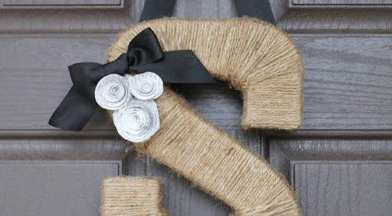 "monogram letter ""wreath"" for front door."