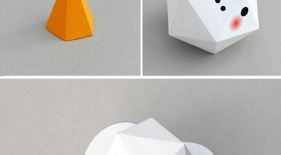 3d origami snowman instructions