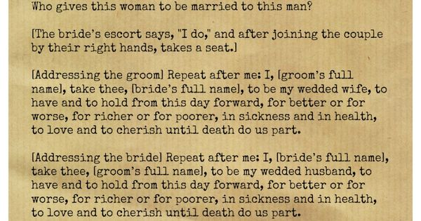 Christian wedding ceremony... short, traditional, & poetic ...