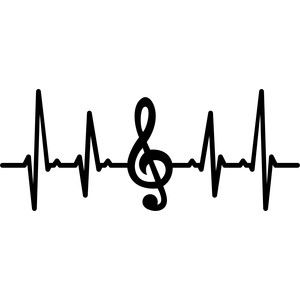 Silhouette Design Store Musical Note Heartbeat Music Tattoos Music Drawings In A Heartbeat