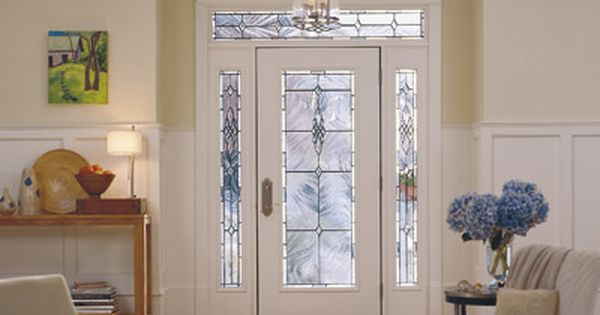 Light Beams Through A Pella Fiberglass Entry Door With