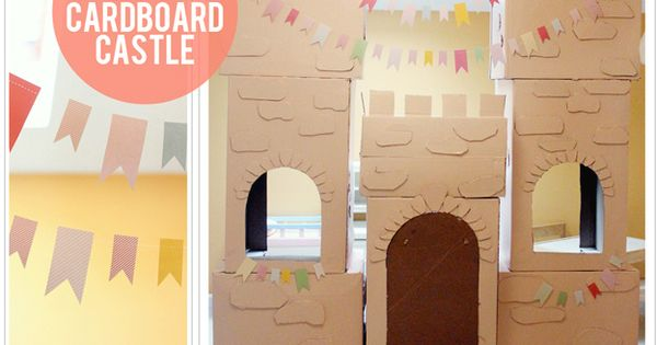 Set the stage for a royal princess party with this DIY cardboard