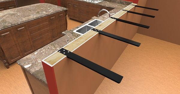 Countertop Seating Overhang Before View Installed On