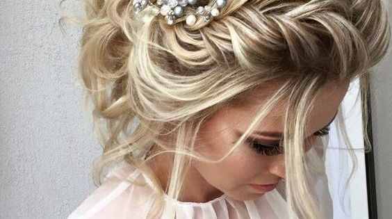bridesmaid hair style wedding hairstyle inspiration wedding bohemian and 2364