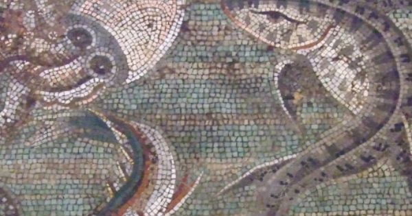 Marine Life Mosaic from House VIII Pompeii demonstrating the vermiculatum technique Roman