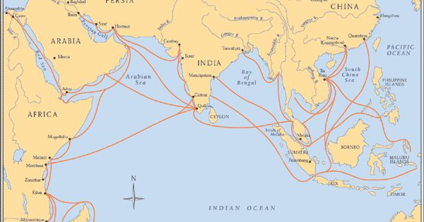 indian ocean trade routes) Subsequent Mongol decline returned ...