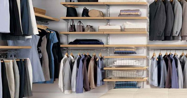 Nice closet organizer decor with diy racks and shelves for Closet medianos modernos