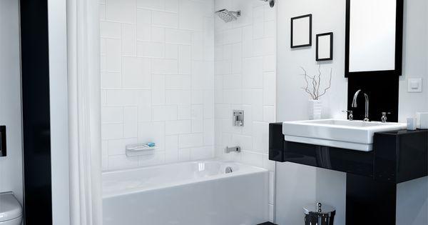 Black And White Designs Give This Bath A Sleek Modern