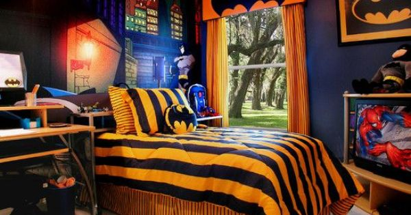 Kids bedroom ideas when i have a house pinterest for Kids batman room