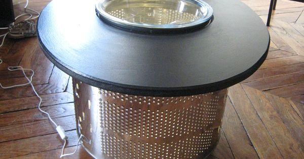 Une table basse pour mailys avec un tambour de machine laver diy pinterest tambour - Table a langer pour machine a laver ...