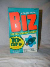 Vintage 1970s New Unopened Box Of Biz Pre Soaking Laundry