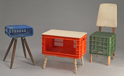 Milk Crate Furniture Chairs Lamps Tables Oh Rubbish Plastic Projects Upcycled Recycled