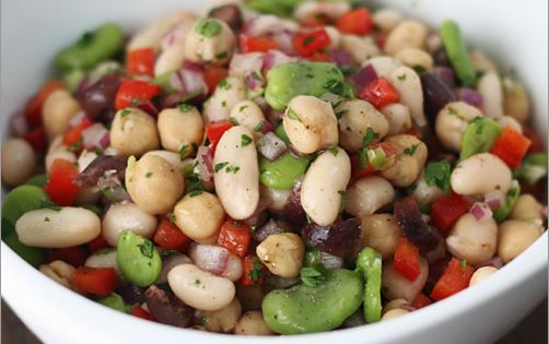 Mediterranean Bean Salad by mediterrasian Bean_Salad; Also look up Spanish potato, tuna